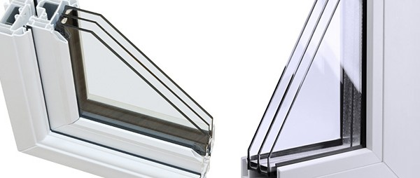 Sistemas de ventanas de aluminio de triple cristal