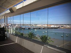 Cortinas de cristal para áticos, terrazas y balcones