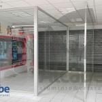 Zona de separación con cortinas de cristal en ALCAMPO