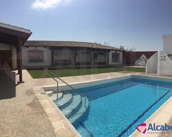 Cerramiento del Porche de Hacienda Salón para Eventos en Fuentes de Andalucía