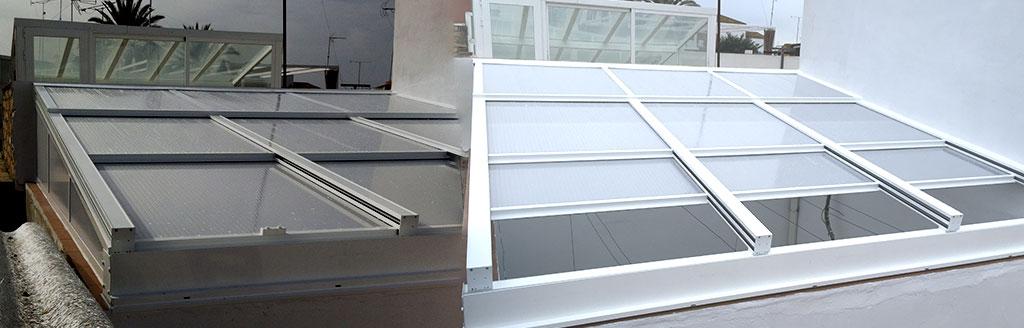 Lucernarios instalaci n de techos de cristal en - Cortinas para tragaluz ...