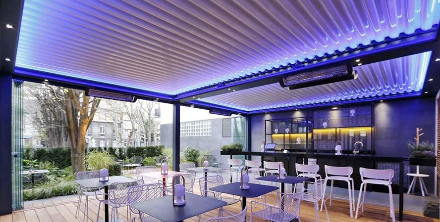 Pérgolas bioclimáticas para negocios de hostelería, como terrazas restaurantes, chiringuitos, etc...