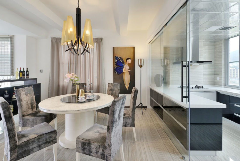 Cortinas de cristal para la separación de cocinas en viviendas