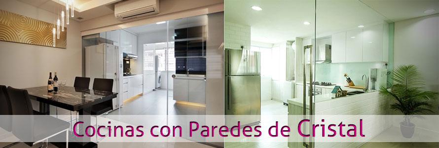 Motivos para colocar paredes y cortinas de cristal en tu cocina